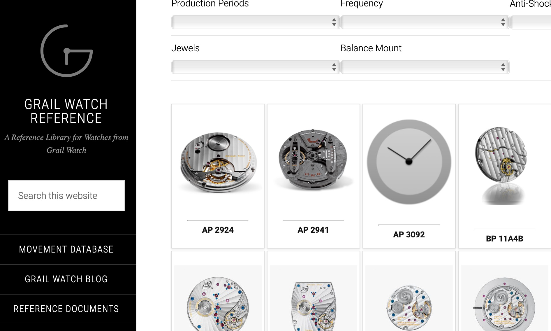 Announcing Grail Watch Reference: A Compendium of Technical Information