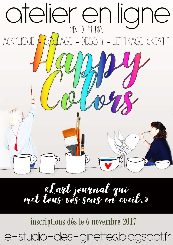 art-journal-happy-colors-le-studio-des-ginettes