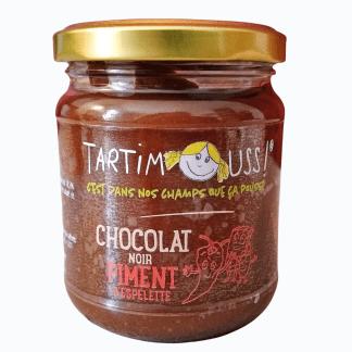 Tartimouss chocolat noir piment d'Espelette