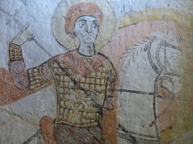 Fresque de l'Eglise au Serpent - Yılanlı kilise - Musée de plein air de Göreme Cappadoce Turquie