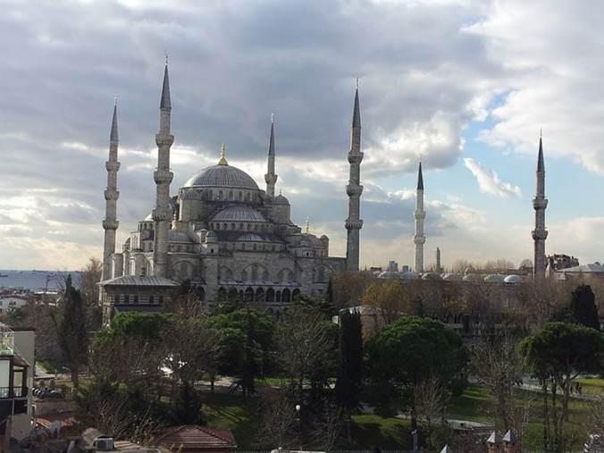mosquée bleue à Sultanahmet Istanbul Turquie