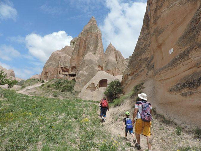 randonnée dans la vallée Rose Cappadoce Turquie