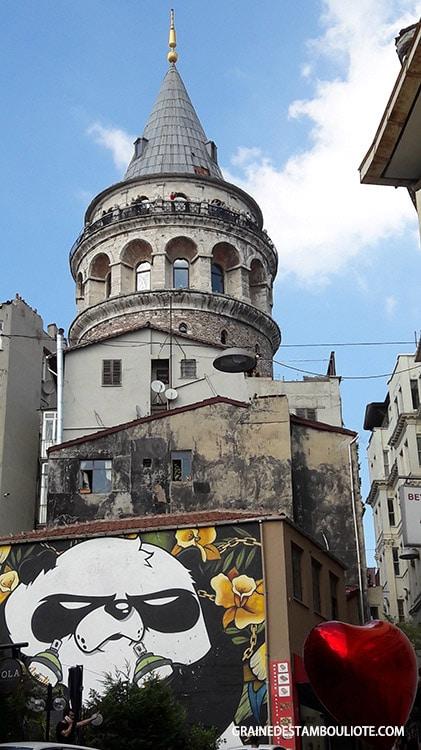 Tour génoise de Galata à Istanbul et street art