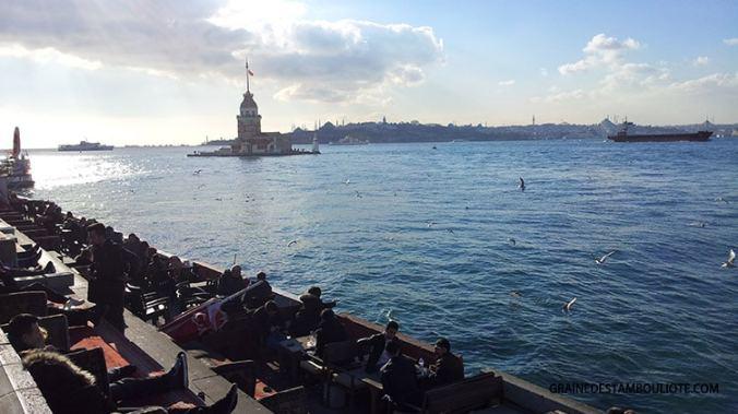 Tour de Léandre ou tour de la jeune fille ou tour de damalis ou arcla, sur la rive asiatique d'Istanbul à Uskudar