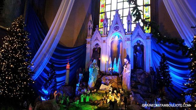 Eglise Saint-Antoine de Padoue à Istanbul crèche de noel