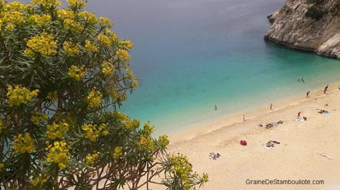 plage de Kaputas près de Kalkan, région de Kas en Turquie