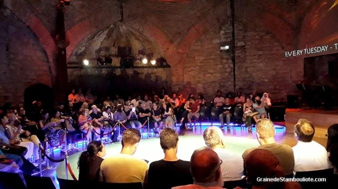 semahane de Hodjapasha à Istanbul où a lieu le sema des derviches tourneurs. très belle salle de spectacle
