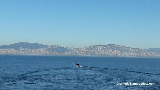 Les îles aux Princes à Istanbul, vue sur la rive asiatique d'Istanbul