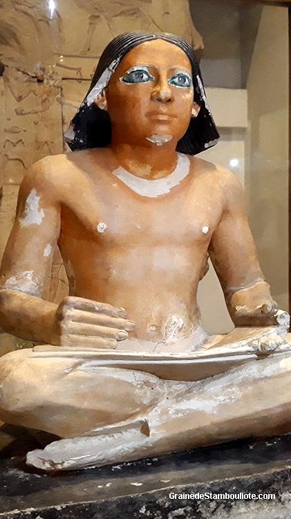 statue du scribe, égypte antique, musée égyptien du Caire