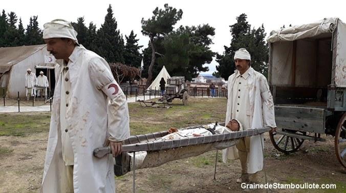 Musée de l'Hôpital de Gallipoli, Bataille des Dardanelles pendant la 1ère Guerre Mondiale