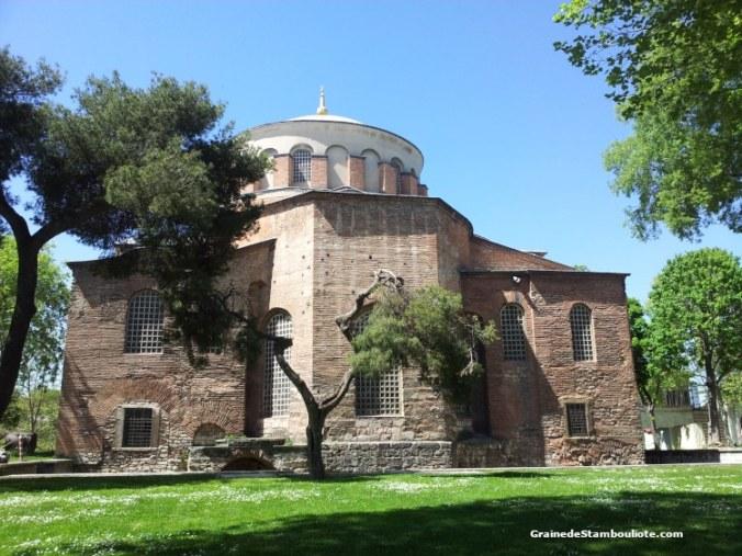 église byzantine Sainte-Irène, Istanbul, palais Topkapi, Cour des Janissaires, cour des Parades