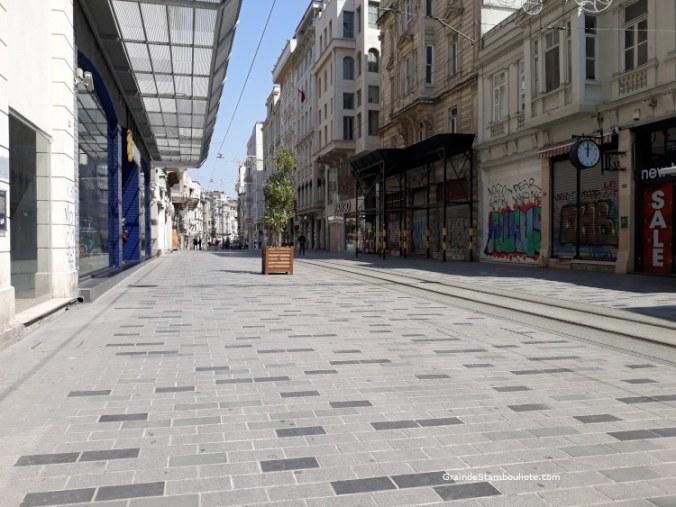 avenue istiklal vide pendant confinement istanbul crise covid