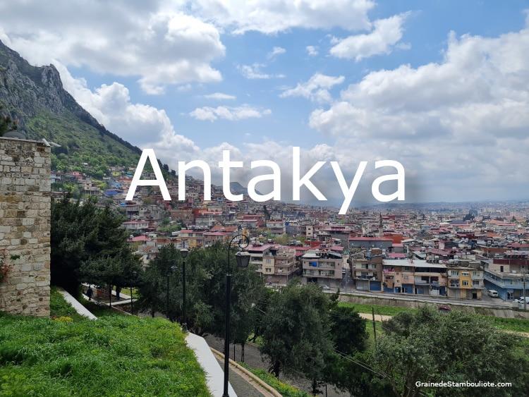 Antakya, Antioche, Hatay, Turquie, Panorama sur la ville depuis la grotte Saint-Pierre
