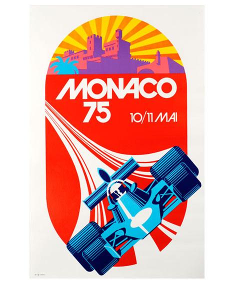 Monaco 1975 Grand Prix Automobile Poster