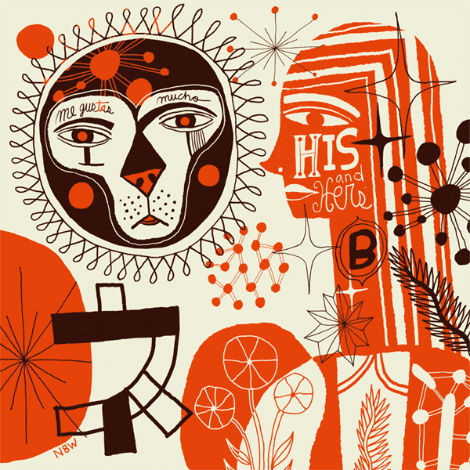 nate williams, n8w, illustration mundo, hola mi amiga, illustration