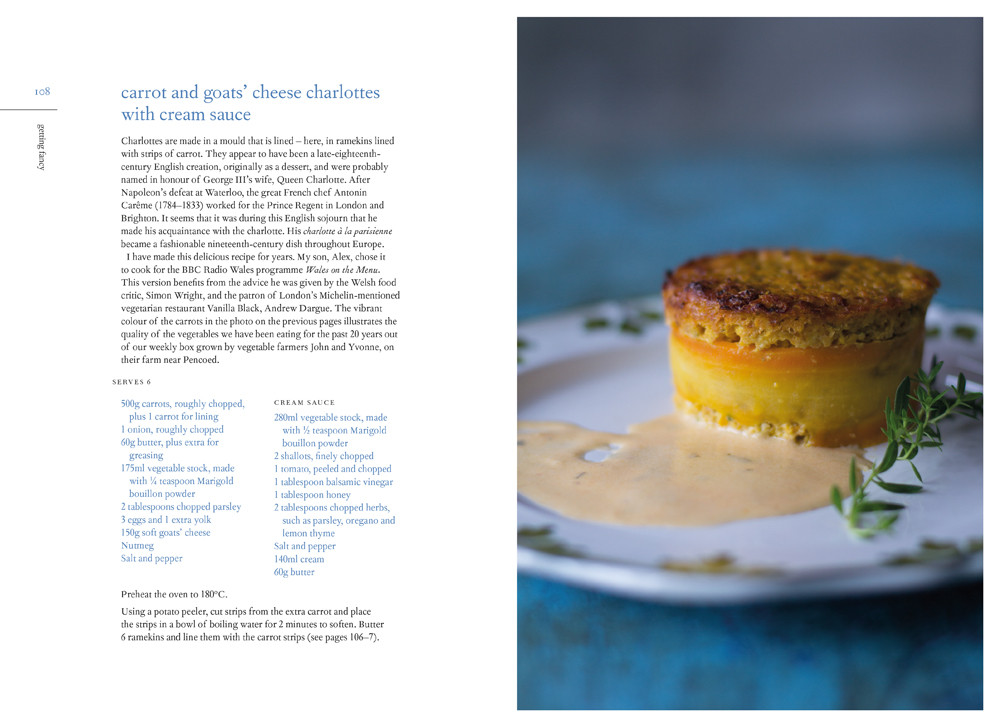 Carrot and goat's cheese charlottes with cream sauce - grain-free vegetarian recipe