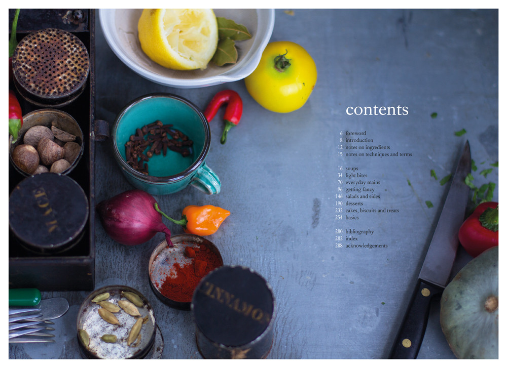 the grain-free vegetarian contents page