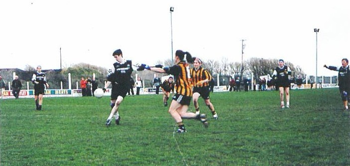 Lisa McDonagh goes for the score in this action shot fom the All Ireland Semi Final in Lerrig.