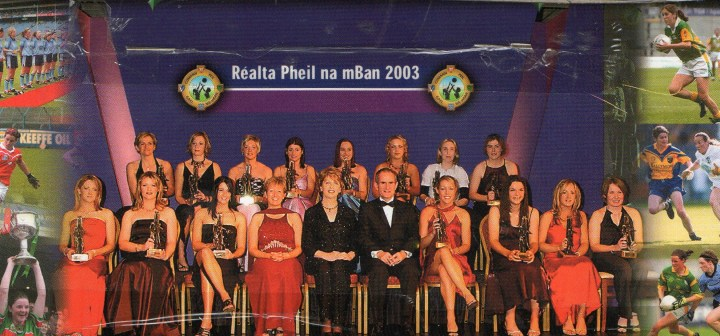Grainne Mhaols midfielder, Lisa Coohill is pictured in the back row, third from the left.