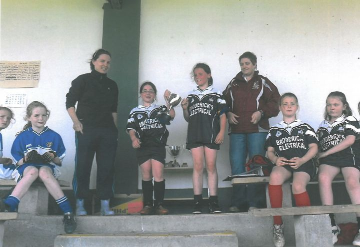 Grainne Mhaols 2012 West Galway Under 11A Champions  Back Row (L to R) Grainne King, Noreen Coyne, Catherine Mannion, Kaytlyn Lee, Chloe Joyce, Caitlin Lee, Jennifer Heanue, Katie Flaherty and Amy Gannon. Front Row ( L to R) Emily Mc Conway, Kayleigh Duane, Sorcha O Malley, Roisin Mannion, Riona Coyne, Alva Coneys and Catherine Ward.