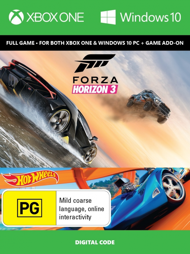 Forza Horizon 3 (Xbox One+PC) za 50.09  zł w CDKeys