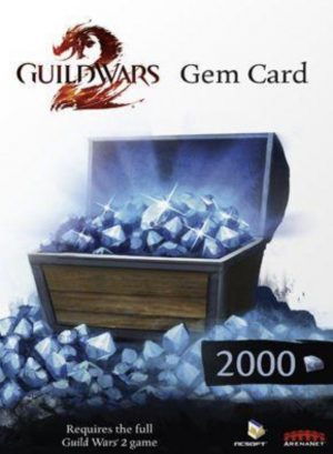 Guild Wars 2 2000 Gem Points za 63.67 zł w CDKeys