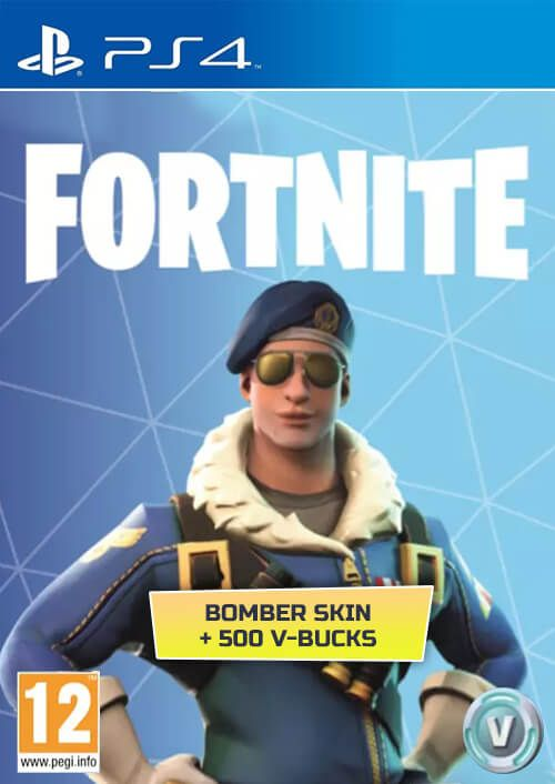 Fortnite Bomber Skin + 500 V-Bucks (PS4) za 76.14 zł w CDKeys