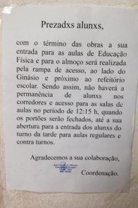 """Morfema de gênero: Aviso mostra termos """"prezadxs"""" e alunxs"""" Foto: Agência O Globo"""