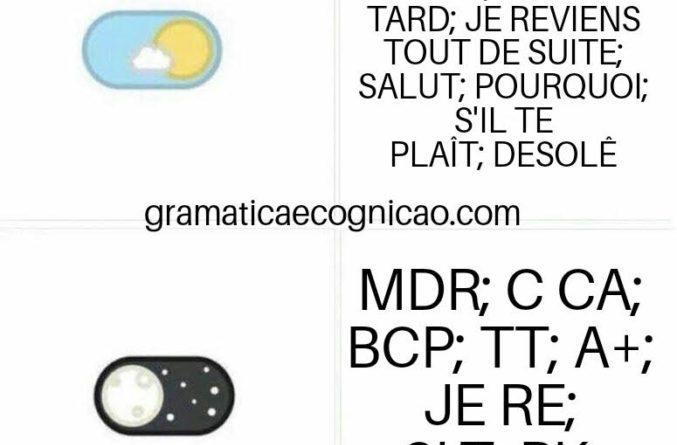 Gírias e expressões coloquiais francesas.