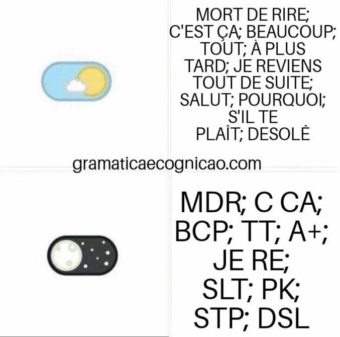 Expressões e Gírias em Francês