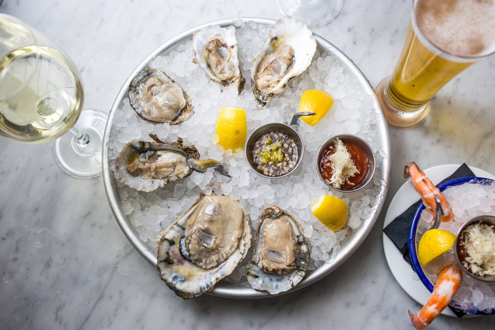 Farmer & The Fish: Red, White & Blue Oysters