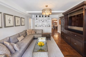The living room at 60 Gramercy Park North, 8M.