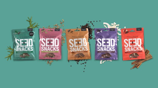 A selection of seed snacks