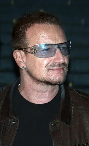 Bono at the Vanity Fair kickoff party for the ...