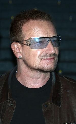 Bono at the Vanity Fair kickoff party for the ...