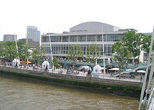 Royal Festival Hall, Thames embankment, London...