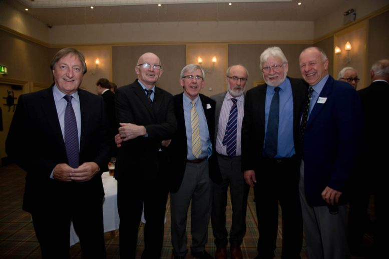 Lyn MacCallum, Gary Swenarton, Donald Wakeford, Martyn Wells, Raymond Whiteford and John Neill – all members of the 1965/66 Medallion Shield-winning team