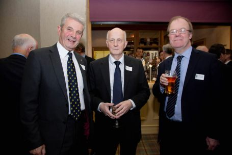 Barry Greenaway, guest speaker Alex Kane and Geoffrey Bowman
