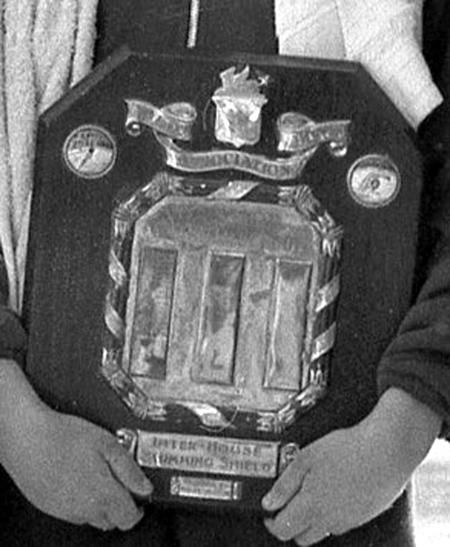 The Inter-House Shield, which was presented to the school by the Old Boys' Association more than 65 years ago