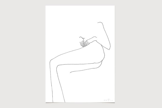 FredericForest_grammatical_LineDrawing_16_WomanResting_50x70cm