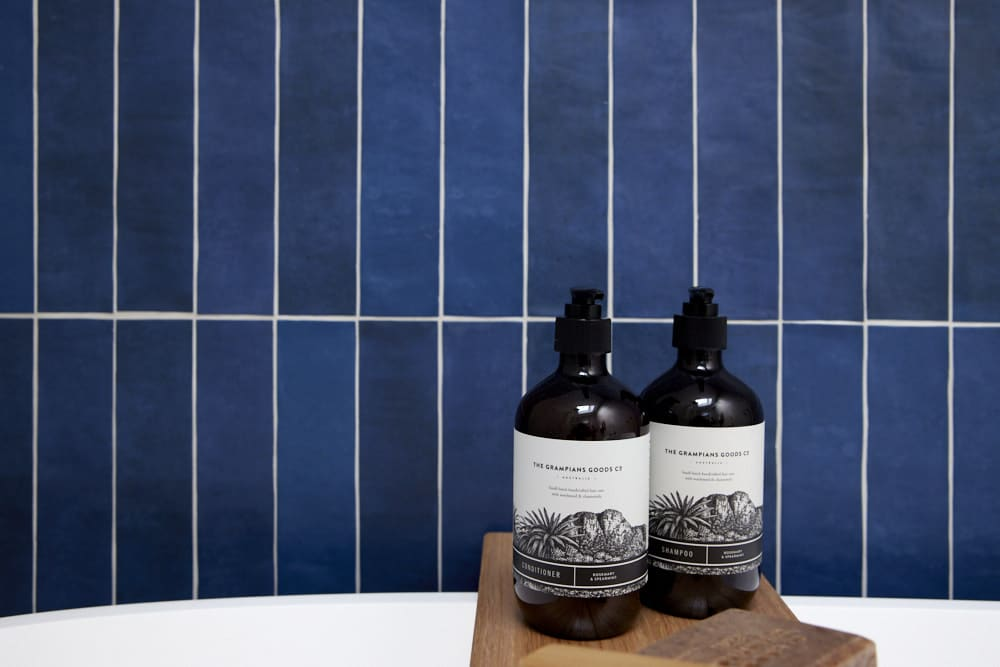 The Block Bathroom Kirsty & Jesse lotion and lather grampians goods co