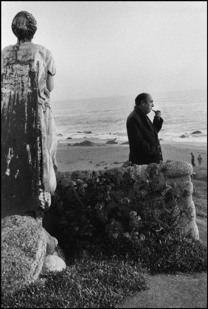 "CHILE.The ""Isla Negra"" house. 1957. Pablo NERUDA. Photographs taken in the Region of Maule, on the Pacific Coast, inside and around the house of the Chilean poet Pablo NERUDA."