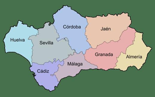 Andalucía_por_provincias
