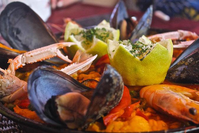 Seafood close-up