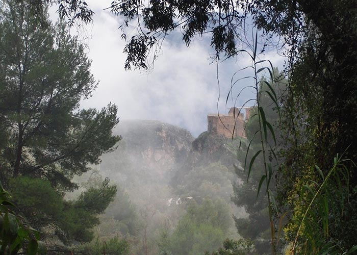 Castillo de Lanjarón seen from Parque el Salado