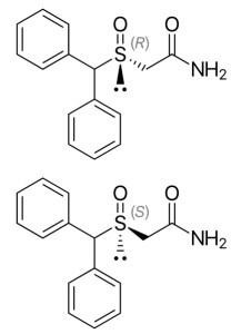 Modafinil - struktura chemiczna - armodafinil