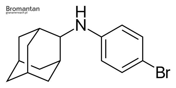 Struktura bromantanu - działanie i dawkowanie