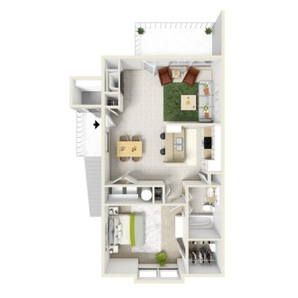 1 and 2 Bedroom Apartment Layouts   Courtyard Apartments and Storage Floor Plan C  Floor Plan A