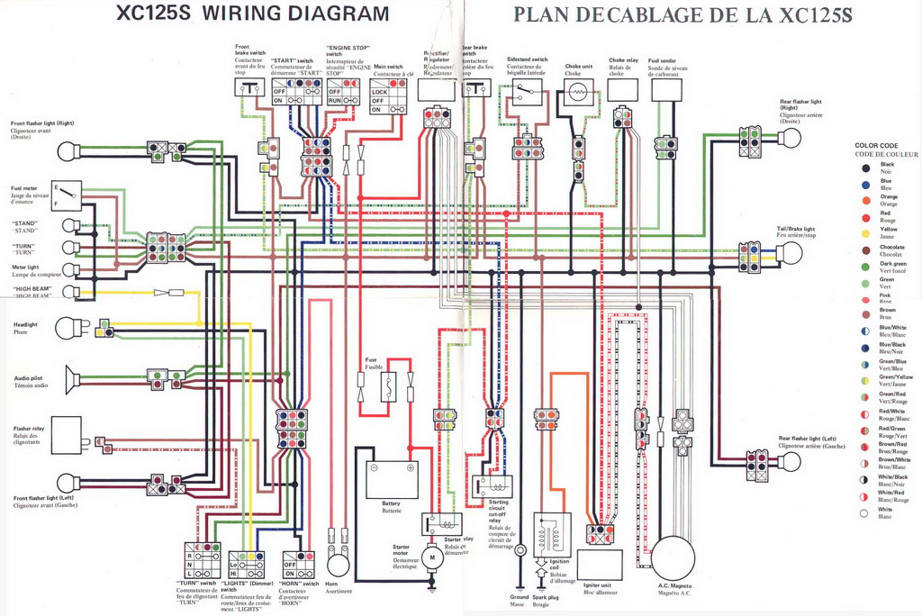 yamaha wiring diagram it175 xj550 xt500 xt350: yamaha wiring diagram it175  at shintaries co