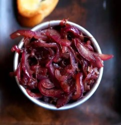 caramelised red onions
